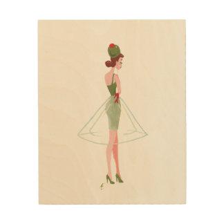 """Martini """"coctail"""" klänning trätavla"""