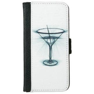 Martini exponeringsglas skissar plånboksfodral för iPhone 6/6s