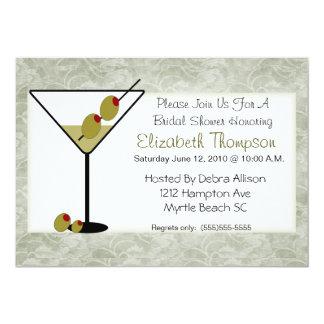 Martini inbjudningskort för möhippan