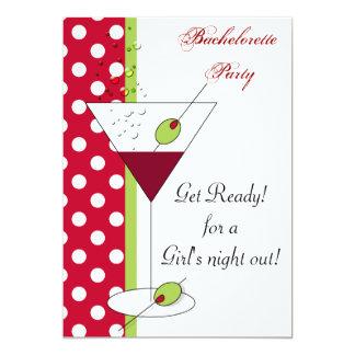 Martini röda Bachelorette partyinbjudningar 12,7 X 17,8 Cm Inbjudningskort