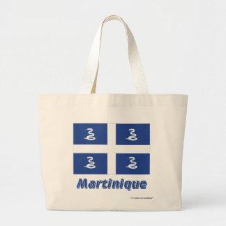 Martinique flagga med namn tote bags