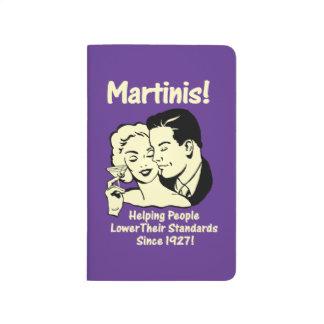 Martinis: Portionen fäller ned normal Anteckningsbok