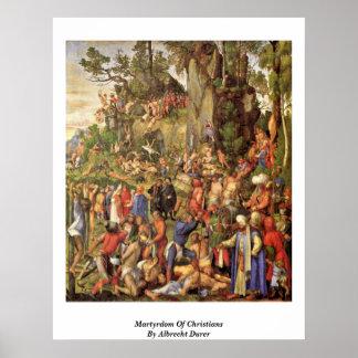 Martyrskap av kristen av Albrecht Durer Poster