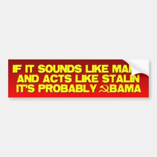 Marx Stalin? Obama! Bildekal