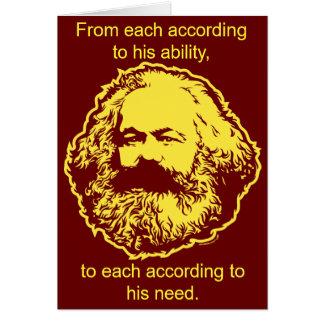 Marxistiskt födelsedagkort hälsningskort