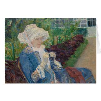 Mary Cassat- Lydia som virkar i trädgården Hälsningskort