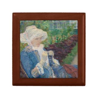 Mary Cassat- Lydia som virkar i trädgården Minnesask