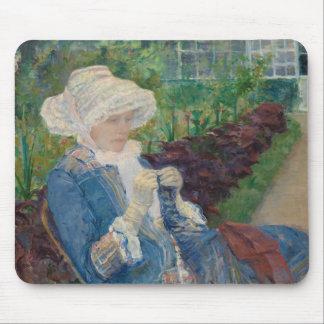 Mary Cassat- Lydia som virkar i trädgården Musmatta