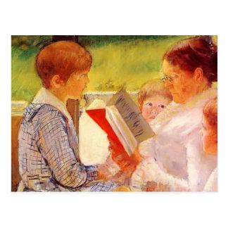 Mary Cassatt- Fru Cassatt läsning till barnbarn Vykort