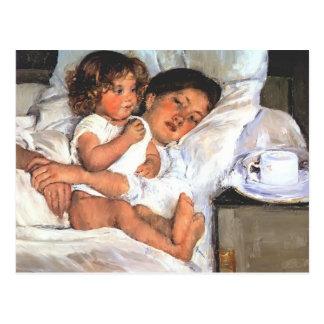 Mary Cassatt- frukost i säng Vykort