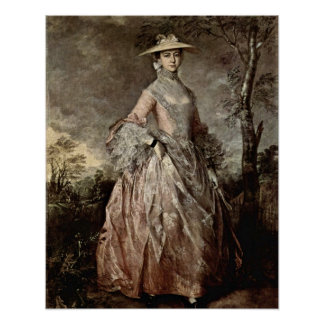 Mary Countess Howe av Thomas Gainsborough Poster