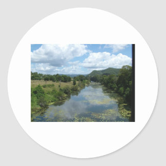 Mary flod Imbil Queensland Australien Runt Klistermärke