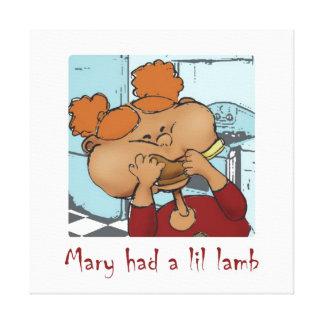 Mary hade en lillamb canvastryck