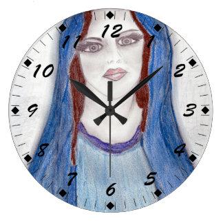 Mary i blått stor klocka