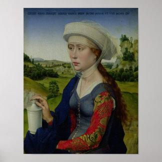 Mary Magdalene, från högerpanelen Poster