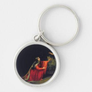 Mary Magdalene Rund Silverfärgad Nyckelring