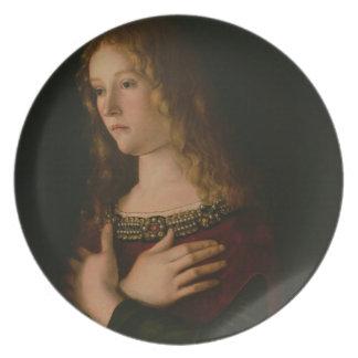 Mary Magdalene, specificerar från oskulden och bar Tallrik
