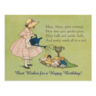 Mary Mary ganska motsatt grattis på födelsedagen Vykort