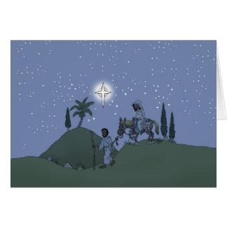 Mary och Joseph, julkort Hälsningskort
