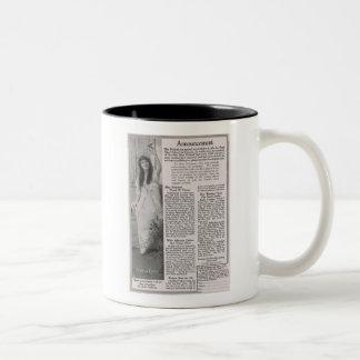 Mary Pickford annonsering 1916 Två-Tonad Mugg