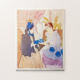 Mary Stevenson Cassatt-Tea i eftermiddagpussel Pussel Med Foto
