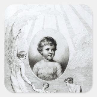 Mary Wollstonecraft Shelley som ett barn Fyrkantigt Klistermärke