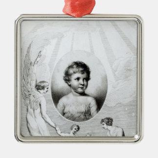 Mary Wollstonecraft Shelley som ett barn Julgransprydnad Metall