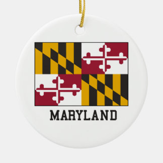 Maryland flagga julgransprydnad keramik
