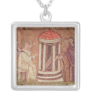 Marysen på graven silverpläterat halsband