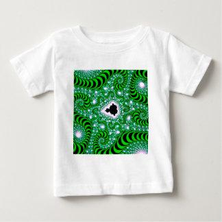 Maskar för abstraktfärggrönt t shirt