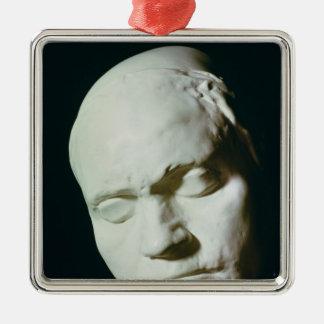 Maskera av Beethoven, taget från liv på åldern av Julgransprydnad Metall