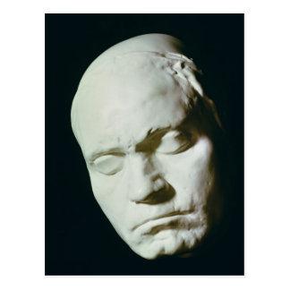 Maskera av Beethoven, taget från liv på åldern av Vykort