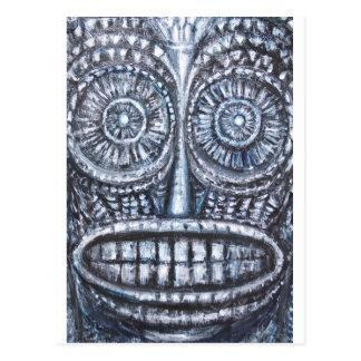 Maskera av den forntida guden (Surrealism, Vykort