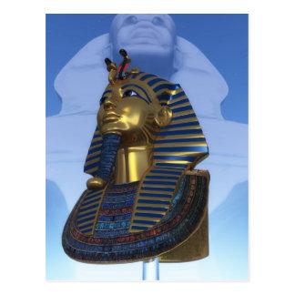 Maskera av pharaohen vykort