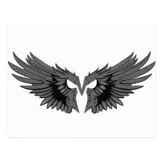 Maskera med vingar vykort