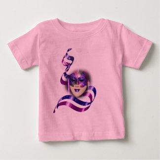 Maskera venetian purpurfärgad rosett band bubblar tröjor