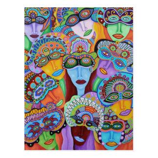 Maskerad 7 vykort