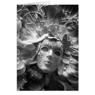 Maskerad ängel hälsningskort
