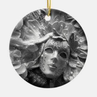 Maskerad ängel julgransprydnad keramik