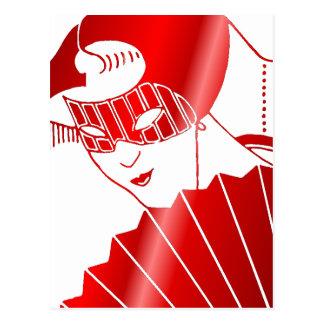 Maskerad i rött vykort