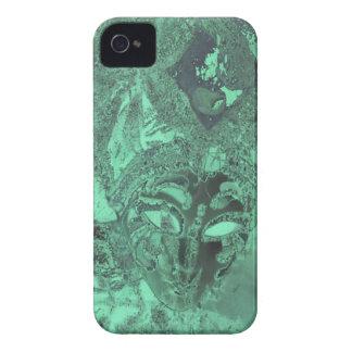 Maskerar grönt oklart för smaragd abstrakt iPhone 4 skal