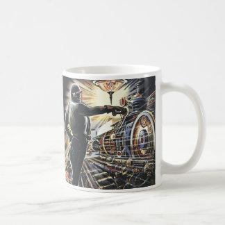 Maskiner för vintagescience fictionSci Fi Kaffemugg