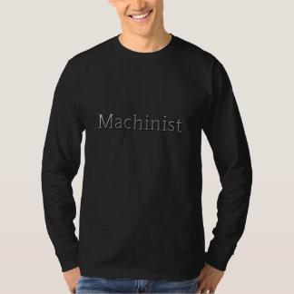 "Maskinist ""heavy metal som bearbetar med maskin"" t shirts"