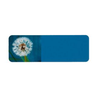 MaskrosblåttAvery etikett Returadress Etikett