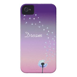Maskrosen kärnar ur flyg i vinden - lilor & rosor Case-Mate iPhone 4 fodral