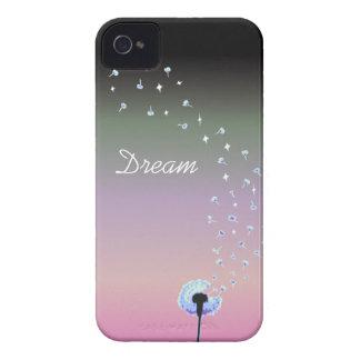 Maskrosen kärnar ur flyg i vinden - svarten & roso iPhone 4 skydd
