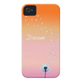 Maskrosen kärnar ur flyget i vinden - solnedgång Case-Mate iPhone 4 case