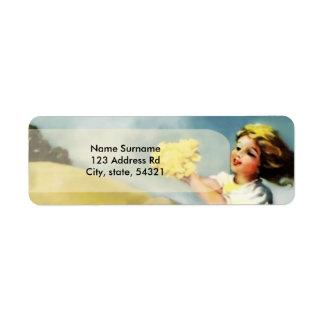 Maskrosor - Antoinette Inglis Returadress Etikett
