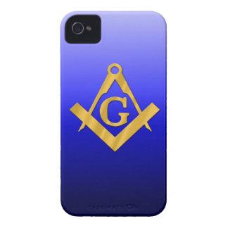 Mason som är masonic med lutningblått iPhone 4 Case-Mate fodraler