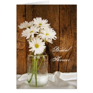 Masonburk och möhippa för vitdaisyladugård hälsningskort